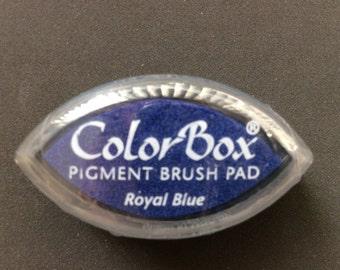 Royal Blue Color Box Pigment Brush Pad