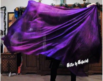 "Sahariah's Silk Belly Dance Veil Rectangle original ""Killer Silk"" 3 Yard Rectangle Veil Tribal Streaks Markings Wild Tribal Veil PLEASE READ"