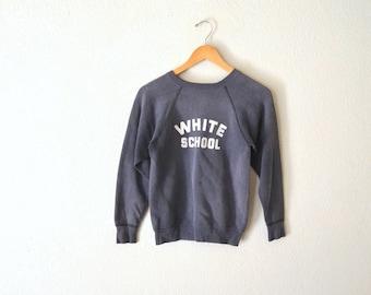 "1960's ""White School"" Raglan Sweatshirt"