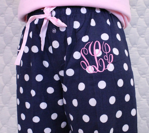 Women's and Girls Polka Dot Pajama Pants