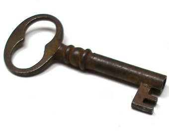 "Small skeleton KEY for altered art or jewelry. 2 1/8""."