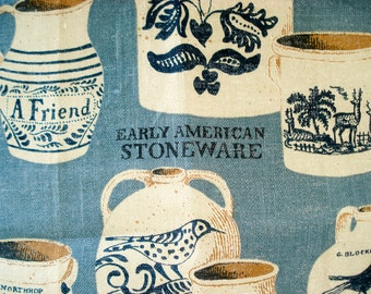 Gorgeous tea towel featuring Early American Stoneware