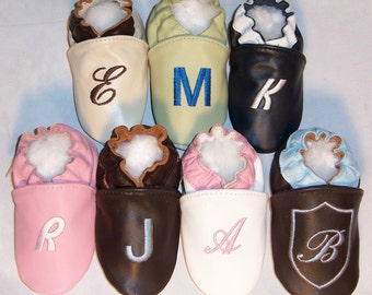 monogram leather shoes