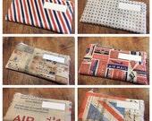 Zipped Cash Envelopes - Tim Holtz Correspondence - US Dollar Bill or Change Purse