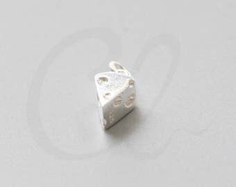 One Piece of 925 Sterling Silver - Cheese 10x6mm