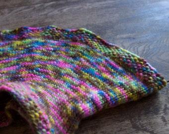 Hand knit Collar in hand dyed yarn