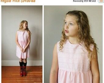 25% OFF SALE 1960s Pink Babydoll Dress~Size 8/10