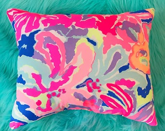 New Pillow made with Lilly Pulitzer Playa Hermosa fabric