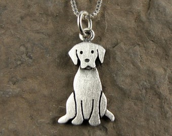 Tiny Labrador retriever necklace / pendant