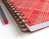 Red Plaid Grid Journal – Red Gold Plaid Journal – Red Gold Plaid Bullet Journal – Red Gold Plaid Grid BuJo – Red Plaid Bujo – Red Gold Bujo