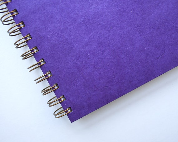 Grid Journal – Grid Notebook – Grid Bullet Journal – Spiral Bound Journal – Purple Grid Journal – Grid Bujo – Eggplant Notebook