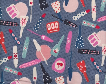 Cotton + Steel Melody Miller Jubilee All Made Up in Blue - Half Yard