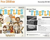 ON SALE River Tam and the Fireflies Front and Back set - 12.5 X 12.5 Print(s)