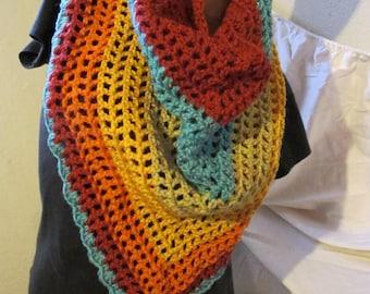 Rainbow Sprinkles Triangle Scarf/Shawl