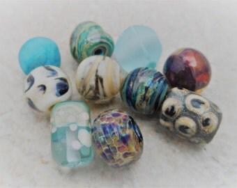 Handmade Lampwork Beads - Orphan beads