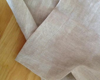 Extra wide linen fabric 100% pure flax cloth stone washed soft linen medium weight width 110 inch Natural Beige Eco Friendly DIY