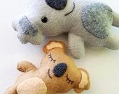 Koala Bear Softies Felt  Toy Sewing Pattern - Tutorial - PDF ePATTERN