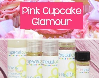 Pink Cupcake Glamour Perfume, Perfume Spray, Body Spray, Perfume Roll On, Pink Cupcake, Perfume Oil, Dry Oil Spray, You Choose the Product