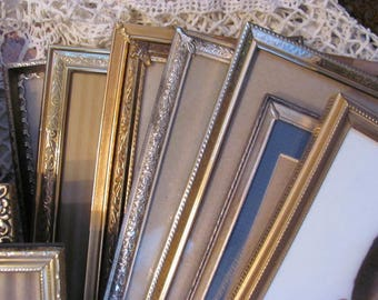 Lot 14 Vintage Gold metal Picture Frames, All 8 x 10's NO glass