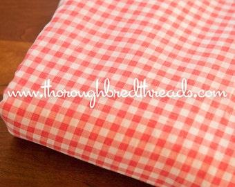 Sweet Pink Gingham- Vintage Fabric Juvenile Doll Making