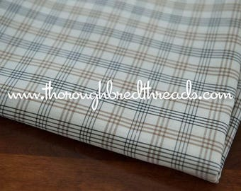 Plaid Squares - Vintage Fabric Checked 60s 70s Geometric Grid Tan Black