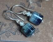 Kyanite Earrings Sterling Silver Blue Gemstone Earrings