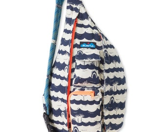 Monogrammed Kavu Rope Bags - Shark Bait - Great gift for College, Teens, Women, Outdoors Satchel Crossbody Tote