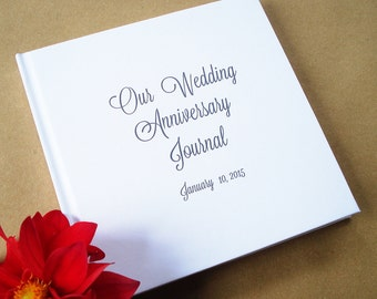 Custom Anniversary Journal * Paper Anniversary Gift * Our Happily Ever After * Wedding Anniversary Gift * Our Wedding Anniversary Journal