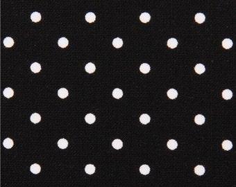 189911 black Michael Miller dot fabric Pinhead