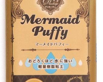 165823 brown waterproof Decollage clay Mermaid Puffy Japan