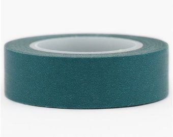 209009 teal Washi Masking Tape deco tape solid