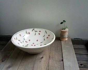 Ceramic ladybug bowl, hand drawn insect bowl, whimsical insect bowl.