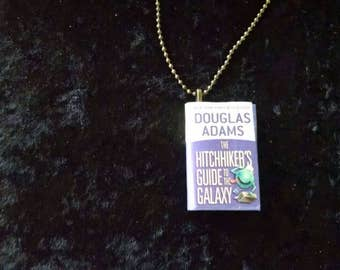 Mini-Book Pendant - Hitchhiker's Guide to the Galaxy