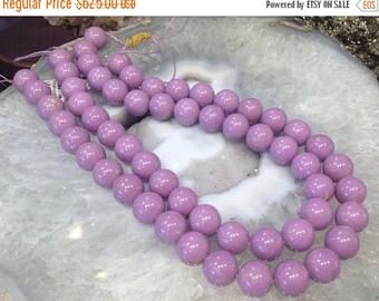 50% Mega Sale 14mm Purple Phosphosiderite Round Gemstone Beads (3A+)