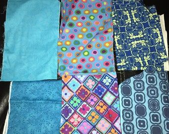 Mixed Fabric Scrap Bundle #4