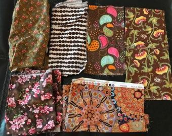 Mixed Fabric Scrap Bundle Bag #6
