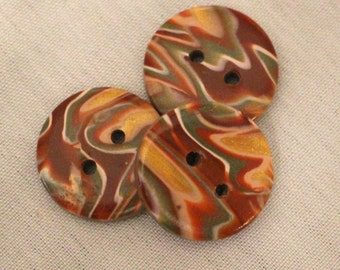 Large Handcrafted Buttons  1 inch Button No. 359