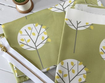 STUDIO SALE - Moonlight Tree Olive Green Fabric Bundle