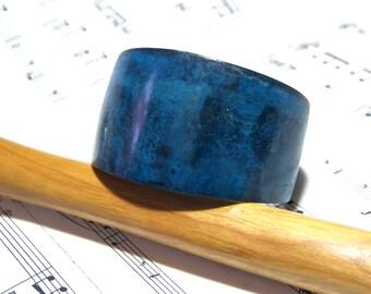 Denim Blue Brass Oxidized Cuff Bracelet Bohemian Bracelet Gifts for Women