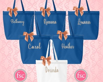 NEW! Monogrammed tote bags , bridal party tote bags , bridemsmaid tote bag , bachelorette party gifts , affordable bridal party gifts
