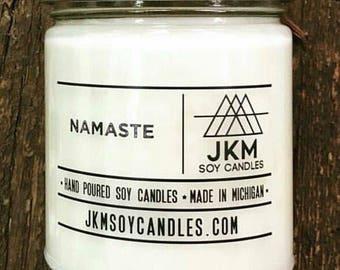 Namaste soy candle
