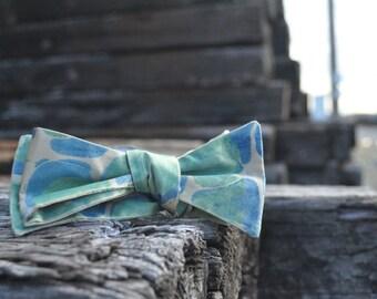 Hand Marbled Bold Gold Adjustable Men's Bow Tie Self Tie Fashion Statement-MM-#16-6