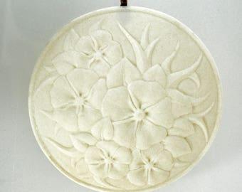 Gift for Her - Porcelain Ornament - Flowers - housewarming gift - handmade - ornament - light catcher - translucent porcelain