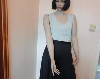 1970's Black Disco Wrap Skirt Sz 9