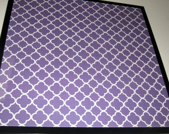 Purple Lattice ..Magnet Dry Erase Memo Board / Housewarming Gift / Office Decor / Desk / Organization / Wall Hanging / Wall Decor / Lattice
