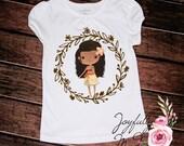 Moana Watercolor Tee - Moana Outfit - Birthday Onesie - Princess Shirt - Moana Shirt