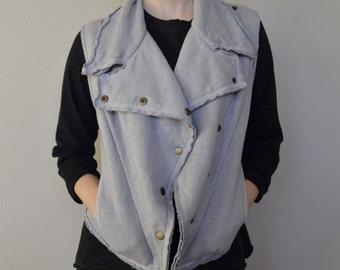 Hemp and Organic Cotton Fleece Snap Vest