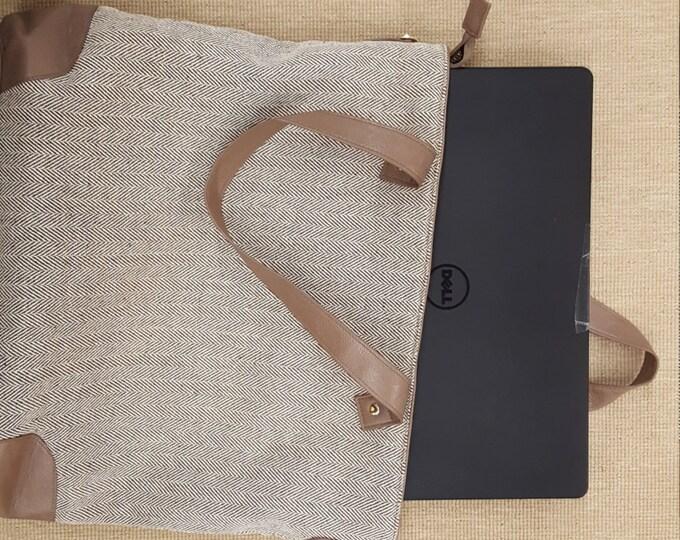 SALE Herringbone shoulder bag gorgeous laptop overnight shoulder work bag luggage travel carryon bestseller professional BeachHouseDreamsOBX
