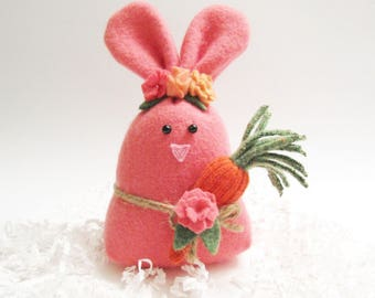 Pink Easter Bunny Pink Easter Rabbit Stuffed Animal Rabbit Plushie Spring Home Decor Easter Basket Filler Decoration Forest Animal 120