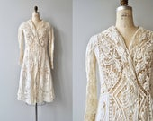 1910s Edwardian jacket | antique tape lace jacket | Edwardian battenburg lace